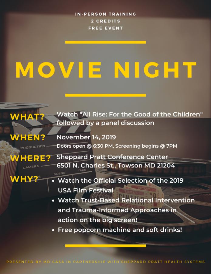 Maryland CASA Movie Night!